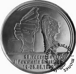 100 marek polskich - 90. ROCZNICA POWSTAŃ ŚLĄSKICH (alpaka II)