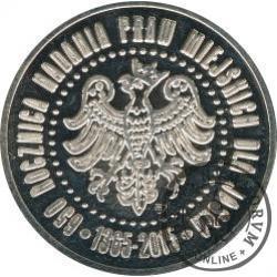 grosz jasielski (mosiądz, plater Ag - 32 mm)