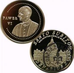 10 denarów - DENARIUS X (alpaka) / Bazylika Św. Piotra w Rzymie / Santo Subito – Paweł VI