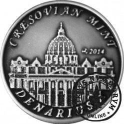 10 denarów - DENARIUS X (alpaka oksydowana - wersja eksportowa) / Jan Paweł II - KANONIZACJA