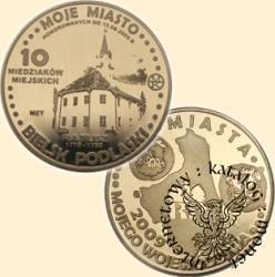 10 miedziaków miejskich - Bielsk Podlaski (mosiądz)