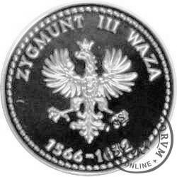 SYMBOLE NARODOWE POLSKI - HISTORIA GODŁA POLSKIEGO / Orzeł Zygmunta III Wazy (Ag - I emisja)