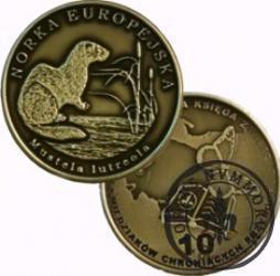 10 miedziaków chroniących przyrodę - NORKA EUROPEJSKA (mosiądz patynowany)