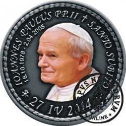 10 denarów - DENARIUS X (alpaka oksydowana + tampondruk - wersja eksportowa) / Jan Paweł II - KANONIZACJA
