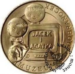6 dobranocek - JACEK I AGATKA (mosiądz, st. odwrócony)