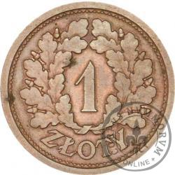 1 złoty - wieniec dębowy, brąz