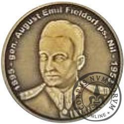 """1 wilk (mosiądz oksydowany) - gen. August Emil Fieldorf """"Nil"""""""