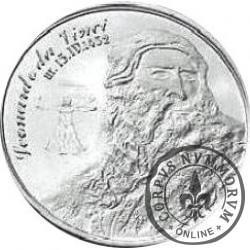 BARAN - Leonardo da Vinci (mosiądz posrebrzany)