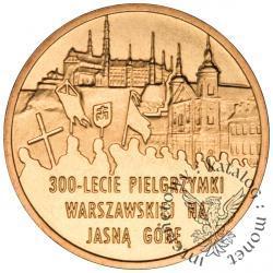 2 złote - 300-lecie pielgrzymki warszawskiej na Jasną Górę