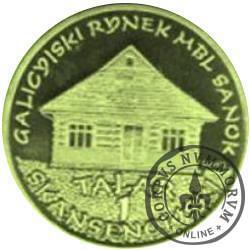 1 talar skansenowski - Galicyjski rynek (mosiądz)