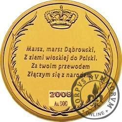 SYMBOLE NARODOWE POLSKI - HISTORIA GODŁA POLSKIEGO / Orzeł Zygmunta III Wazy (Au - I emisja)