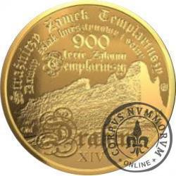 10 drahim / 900. LECIE ZAKONU TEMPLARIUSZY (mosiądz)