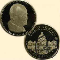 10 denarów - DENARIUS X (alpaka) / Bazylika Św. Piotra na Watykanie / Jan Paweł II - 45-lecia święceń kardynalskich