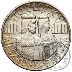 100 złotych - Mieszko i Dąbrówka - popiersia