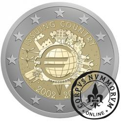 2 euro (A) - 10 Lat Euro w Obiegu