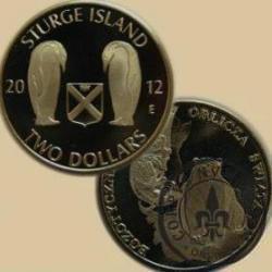 TWO DOLLARS / STURGE ISLAND (alpaka oksydowana)
