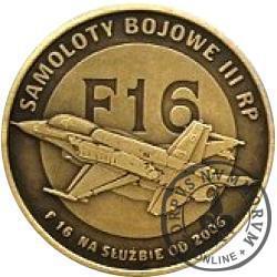 2 polskie skrzydła / F16 (mosiądz oksydowany)