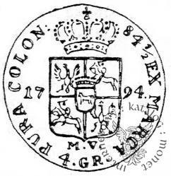 złotówka - 4 grosze - 84½