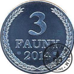 3 fauny (aluminium - wersja okrągła)