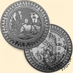 10 miedziaków numizmatycznych (mosiądz posrebrzany) - św. Eligiusz