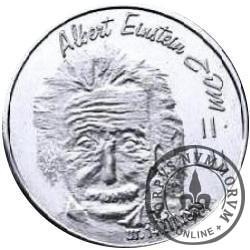 RYBY - Albert Einstein (mosiądz posrebrzany)
