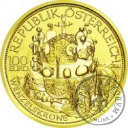 100 euro - Czeska korona św. Wacława