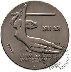 10 złotych - VII wieków warszawy Nike bez tarczy