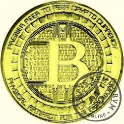 Bitcoin ANONYMOUS (miedź pozłacana)