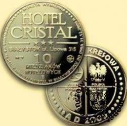 10 miedziaków hotelowych - Hotel Cristal - Białystok (mosiądz)