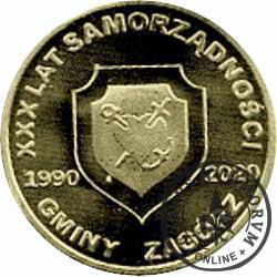 1 libert / XXX Lat Samorządności Gmina Zagórz (mosiądz)