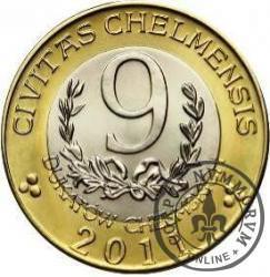 9 dukatów chełmskich - Chełm (bimetal z tampondrukiem)