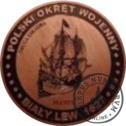 20 bitewnych - BITWA MORSKA POD OLIWĄ (1627) OKRĘTY - Biały Lew / WZORZEC PRODUKCYJNY DLA MONETY (miedź patynowana)