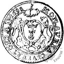 dukat gdański (popiersie w zbroi z obwódką - GEDAN)