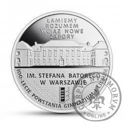 10 złotych - 100-lecie powstania Gimnazjum i Liceum im. Stefana Batorego w Warszawie