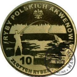 10 złotych rybek (mosiądz) - LIV emisja / SUMIK KARŁOWATY