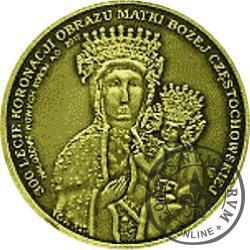 1 talar jubileuszowy - 300-lecie Koronacji Obrazu Matki Bożej Częstochowskiej / Nałożenie Nowych Koron (mosiądz)