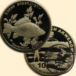 10 złotych rybek (alpaka) - XVIII emisja / KARAŚ SREBRZYSTY