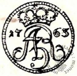 szeląg - duża korona Ag