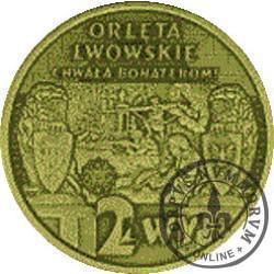 2 lwy - ORLĘTA LWOWSKIE (mosiądz oksydowany)