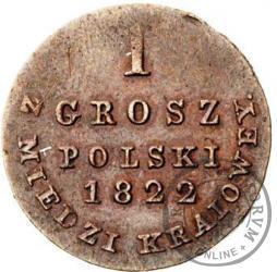 1 grosz - z napisem w otoku