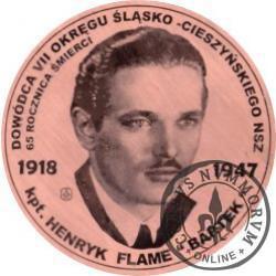 20 wilków - 65. rocznica śmierci kpt. Henryka Flame (miedź - Φ 38 mm)
