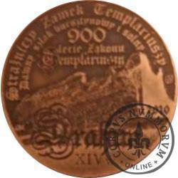50 drahim / 900. LECIE ZAKONU TEMPLARIUSZY (PRÓBA - miedź patynowana)