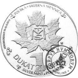 1 dukat olimpijski (mosiądz posrebrzany)