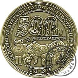 500 żubrów bieszczadzkich (mosiądz)