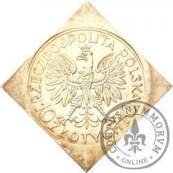 10 złotych - Romuald Traugutt - klipa romb st. zw.