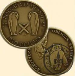 TWO DOLLARS / BORRADAILE ISLAND (mosiądz patynowany)