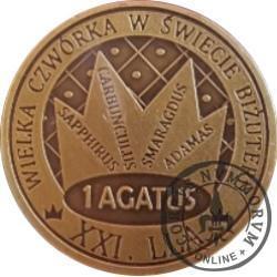 1 agatus 2018 / XXI Lwóweckie Lato Agatowe (mosiądz oksydowany - X emisja)