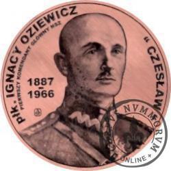 20 zbrojnych - Ignacy Oziewicz – pierwszy komendant główny NSZ (miedź - Φ 38 mm)