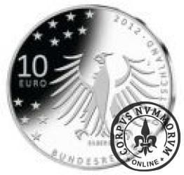 10 euro -  150 rocznica urodzin Gerharta Hauptmanna