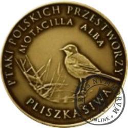 10 pięknych ptaków / Pliszka siwa (III emisja - mosiądz patynowany)